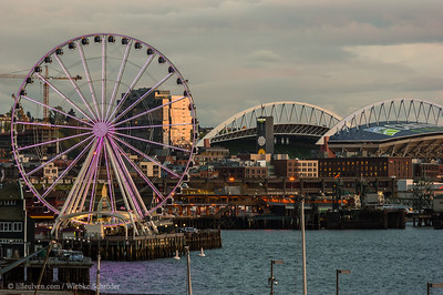 Evening over the Harbor of Seattle