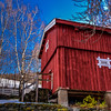 Red barn belonging to Prestegarden (HDR)