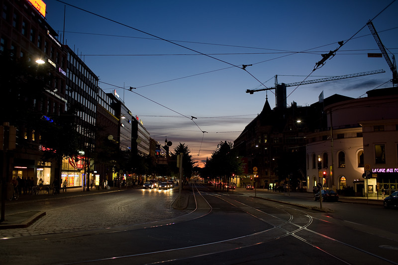 Mannerheimintie by night, Helsinki, Finland