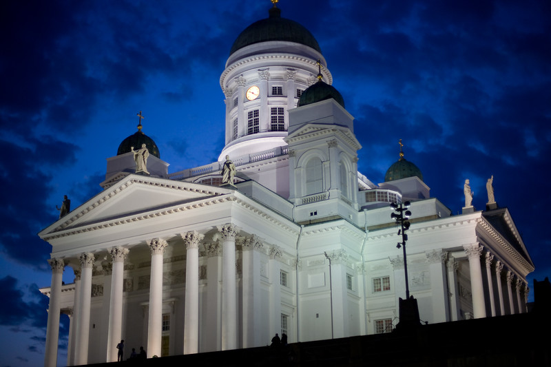 Cathedral by night, Helsinki, Finland