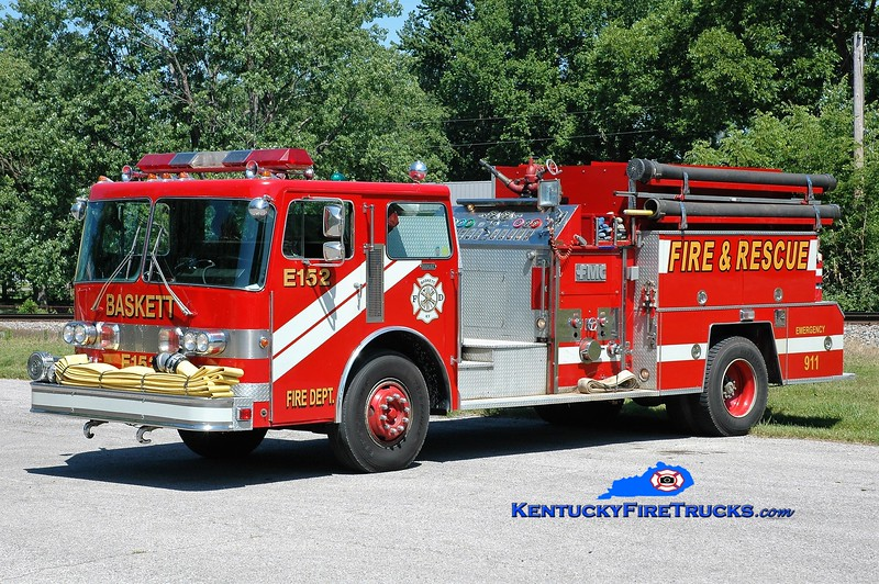 Baskett  Engine 152<br /> x-Knight Twp, IN<br /> 1982 Duplex D-350/FMC 1250/1000<br /> Greg Stapleton photo