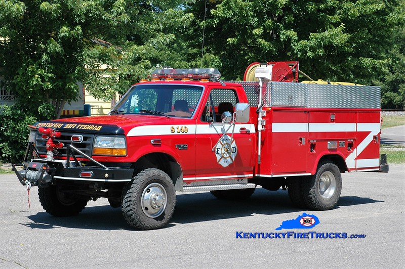 Baskett  Squad 140<br /> 1993 Ford F-350 4x4/Evansville Truck/Gerrys Automotive 125/300/5<br /> Greg Stapleton photo