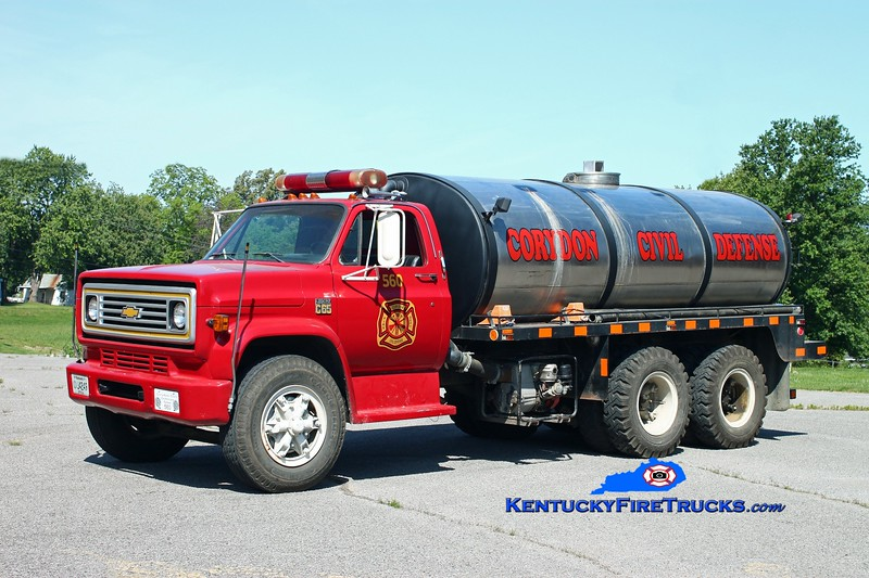 <center> Corydon  Tanker 560  <br> 1977 Chevy C65/Local 250/3200 <br> Kent Parrish photo </center>