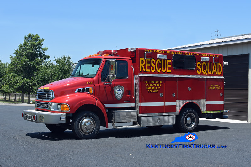 Henderson City/County Rescue Squad  Rescue 755<br /> x-German Twp, IN<br /> 2002 Sterling Acterra/1982 E-One/1989 Tri-State Utility/2002 Ramsey<br /> Kent Parrish photo