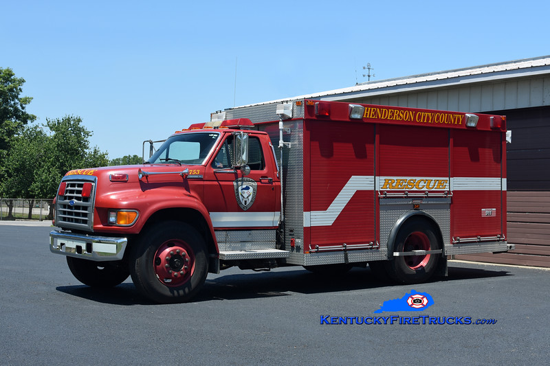 Henderson City/County Rescue Squad  Rescue 753<br /> x-Henderson, KY<br /> 1995 Ford F-600/Summit<br /> Kent Parrish photo