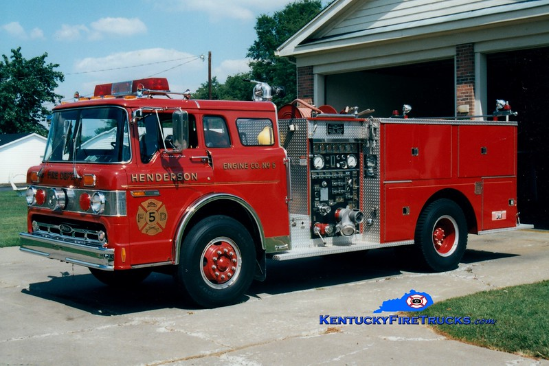 <center> RETIRED <br> Henderson  Engine 5  <br> 1981 Ford C/Pierce 1000/500 <br> Greg Stapleton photo </center>