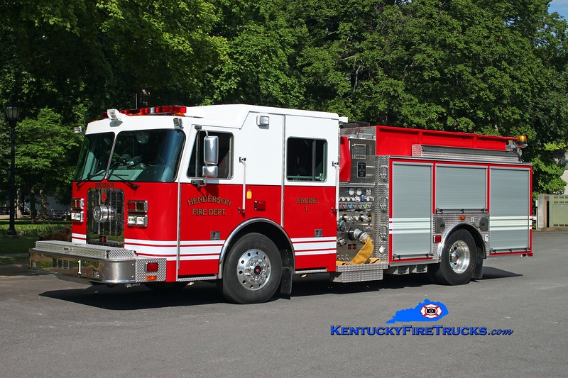 <center> RETIRED <br> Henderson  Engine 1 <br> 2010 Sutphen Guardian  1250/1000 <br> Kent Parrish photo </center>