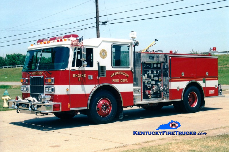 <center> RETIRED <br> Henderson  Engine 5  <br> 1992 Pierce Dash 1250/500 <br> Greg Stapleton photo </center>
