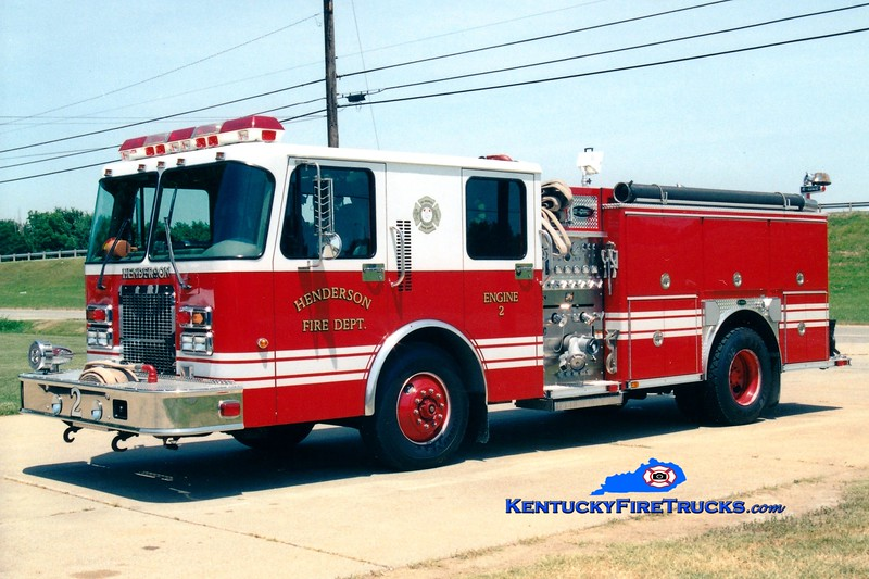 <center> Henderson  Reserve Engine  <br> x-Engine 2 <br> 1999 Spartan Advantage/E-One 1250/500 <br> Greg Stapleton photo </center>