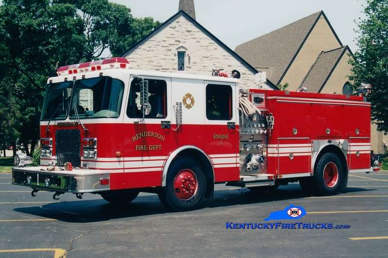 <center> Henderson  Reserve Engine   <br> x-Engine 1 <br> 1999 Spartan Advantage/E-One 1250/500 <br> Greg Stapleton photo </center>