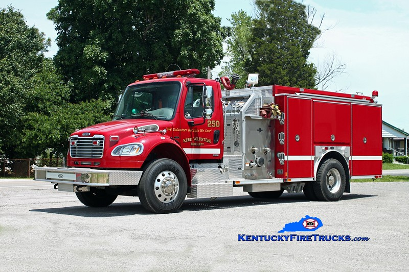 <center> Reed  Engine 250  <br> 2005 Freightliner M2-106/E-One 1250/1000 <br> Kent Parrish photo </center>