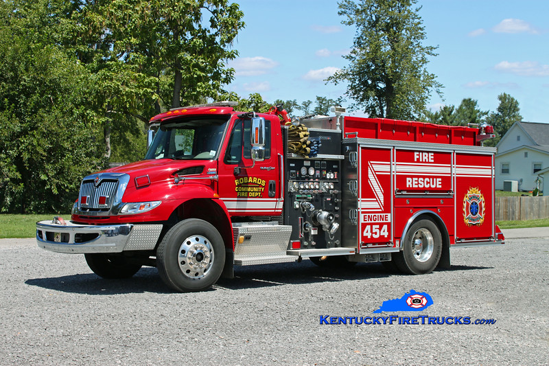 <center> Robards  Engine 454 <br> 2007 International 4400/Crimson 1500/1000/30  <br> Kent Parrish photo <br> </center>