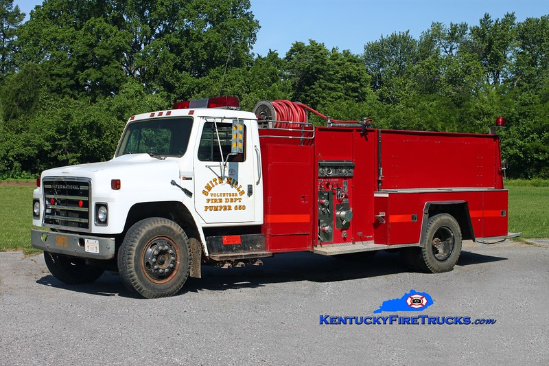 <center> RETIRED <br> Smith Mills  Pumper 650  <br> 1980 International S-1724/FMC/Slagle's/SMFD 500/1500 <br> Kent Parrish photo </center>