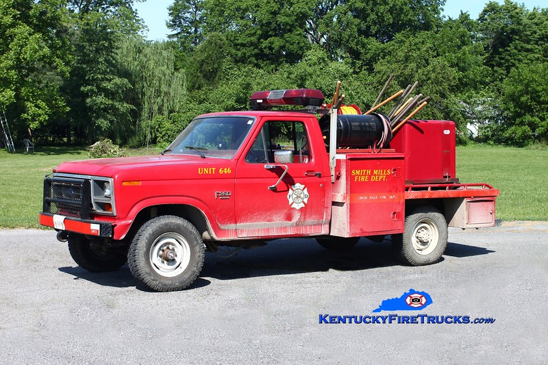 <center> Smith Mills  Brush 646  <br> 1984 Ford F-250 4x4/Marco 250/250 <br> Kent Parrish photo </center>