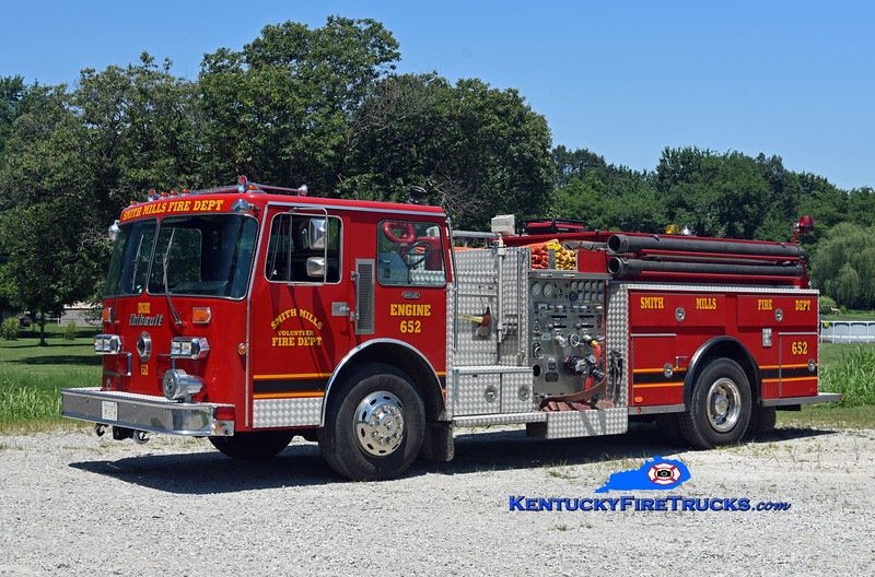 Smith Mills  Engine 652<br /> x-Richmond, VA and Richland, KY<br /> 1986 Duplex D-350/Thibault 1250/1000/20<br /> Kent Parrish photo