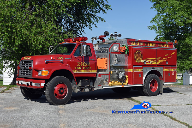 Zion  Engine 354<br /> 1994 Ford F-800/E-One 1250/1000<br /> Kent Parrish photo
