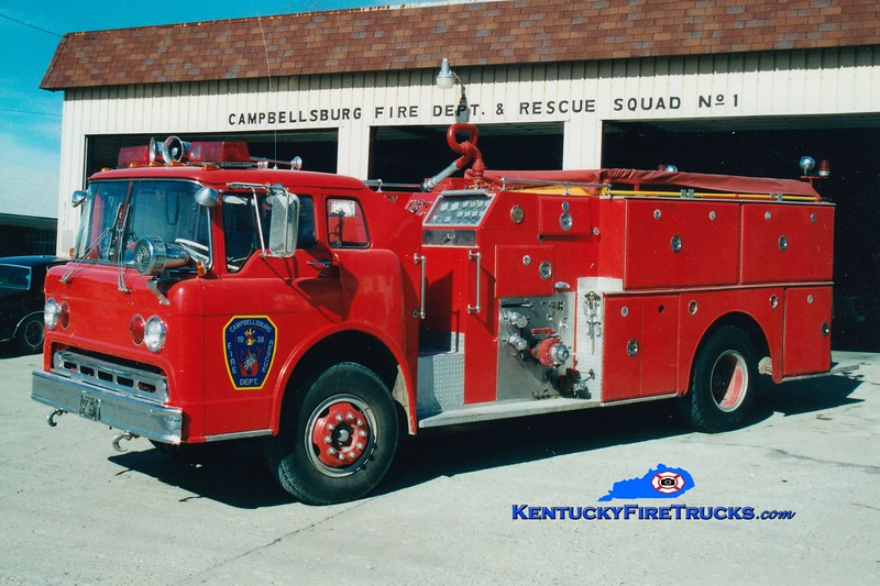 <center> RETIRED <br> Campbellsburg  Engine 1131 <br> x-Wayne Twp, IN & Fern Creek, KY <br> 1970 Ford C/Howe 1250/1000 <br> Greg Stapleton photo </center>