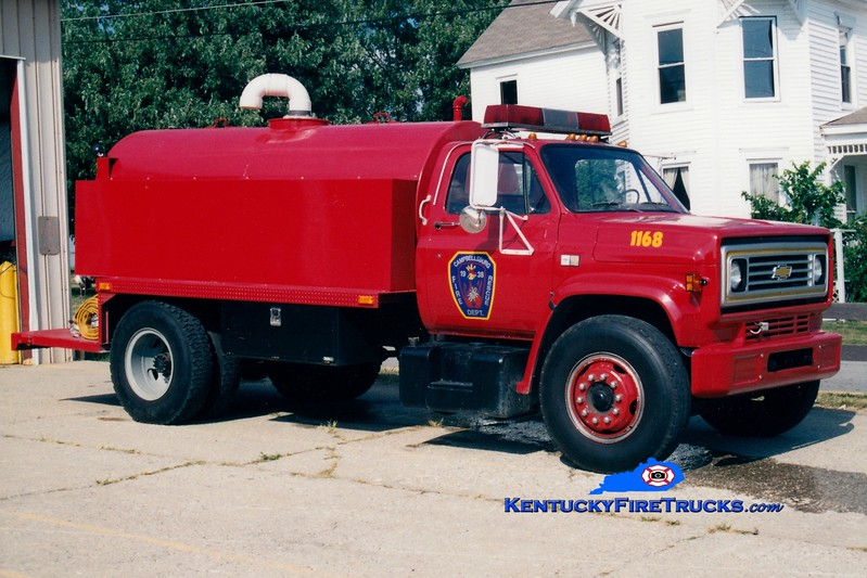 <center> Campbellsburg  Tanker 1168 <br> 1988 Chevy/Local 0/1500 <br> Greg Stapleton photo </center>