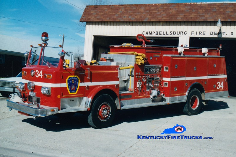 <center> RETIRED <br> Campbellsburg  Engine 1134 <br> x-Middletown, KY <br> 1974 Pirsch 1250/800 <br> Greg Stapleton photo </center>
