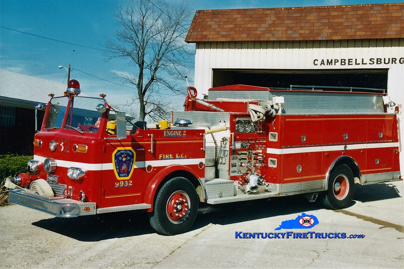 RETIRED <br /> Campbellsburg Quad 1145 <br /> x-Middletown, KY <br /> 1964 Ford/Pirsch 1000/600 <br /> *Yes...a Pirsch custom on a Ford chassis! <br /> Greg Stapleton photo