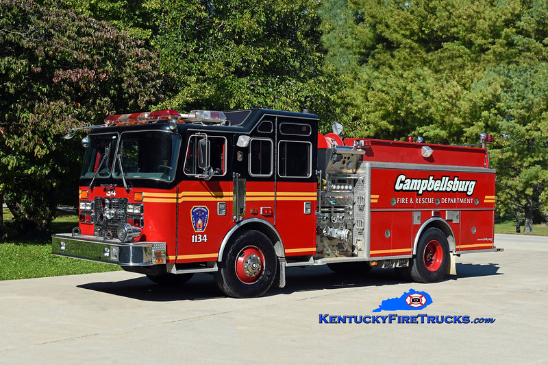 Campbellsburg Engine 1134<br /> x-Middletown, KY<br /> 1995 KME Renegade 1500/500 <br /> Kent Parrish photo