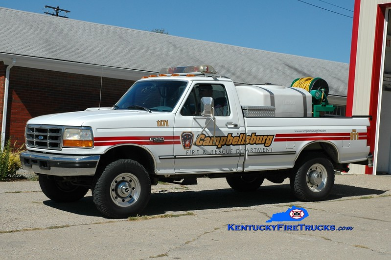 <center> RETIRED <br> Campbellsburg  Brush 1171 <br> 1992 Ford F-250 4x4/FD 50/150 <br> Greg Stapleton photo </center>