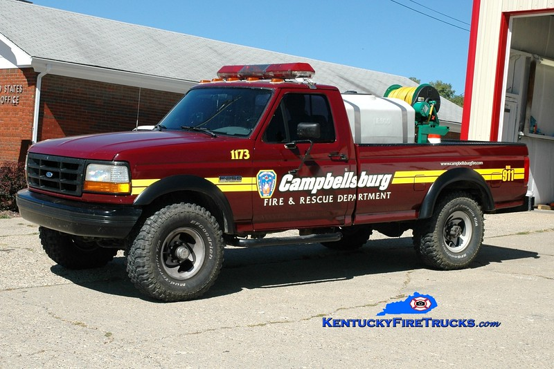 <center> Campbellsburg  Brush 1173 <br> 1996 Ford F-250 4x4/FD 50/150 <br> Greg Stapleton photo </center>