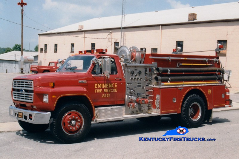 <center> RETIRED <br> Eminence  Engine 2221  <br> 1986 Ford F-800/Grumman 1000/750  <br> Greg Stapleton photo </center>