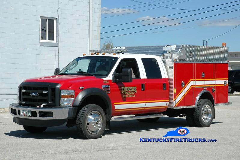 <center> Eminence  Rescue 2281 <br> 2008 Ford F-550 4x4/2011 M3  <br> Greg Stapleton photo </center>