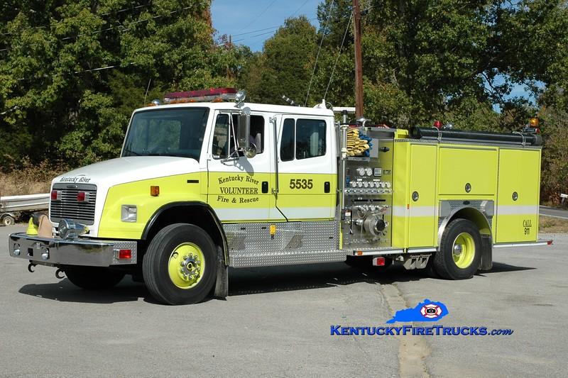 <center> Kentucky River  Engine 5535 <br> x-Barnard, NY <br> 1996 Freightliner FL80/E-One 1500/750 <br> Greg Stapleton photo </center>