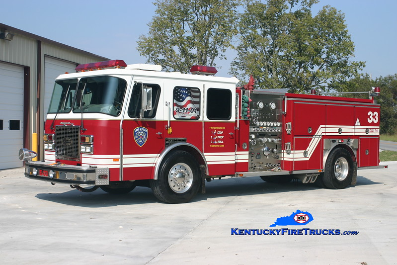 RETIRED <br /> Lake Jericho  Engine 6633<br /> x-Worthington, KY<br /> 1993 E-One Cyclone TC 1500/750<br /> Kent Parrish photo