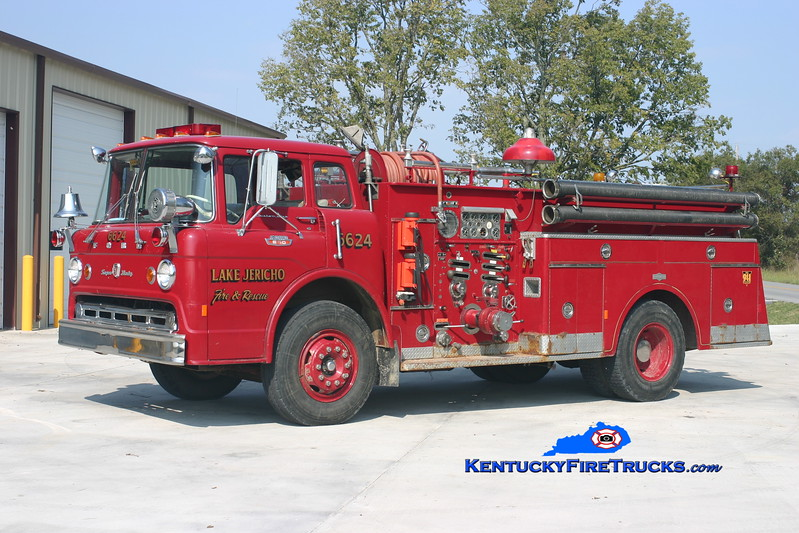 RETIRED <br /> Lake Jericho   Engine 6624<br /> x-South Oldham, KY <br /> 1967 Ford C-850/Pirsch 1000/750<br /> Kent Parrish photo