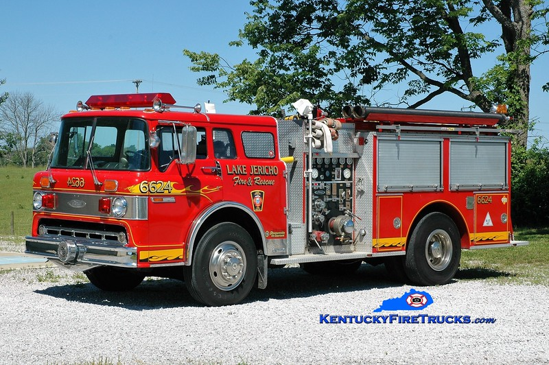 Lake Jericho  Engine 6624<br /> x-Pasco County, FL & Pleasureville, KY <br /> 1985 Ford C-8000/Pierce 1000/750<br /> Greg Stapleton photo