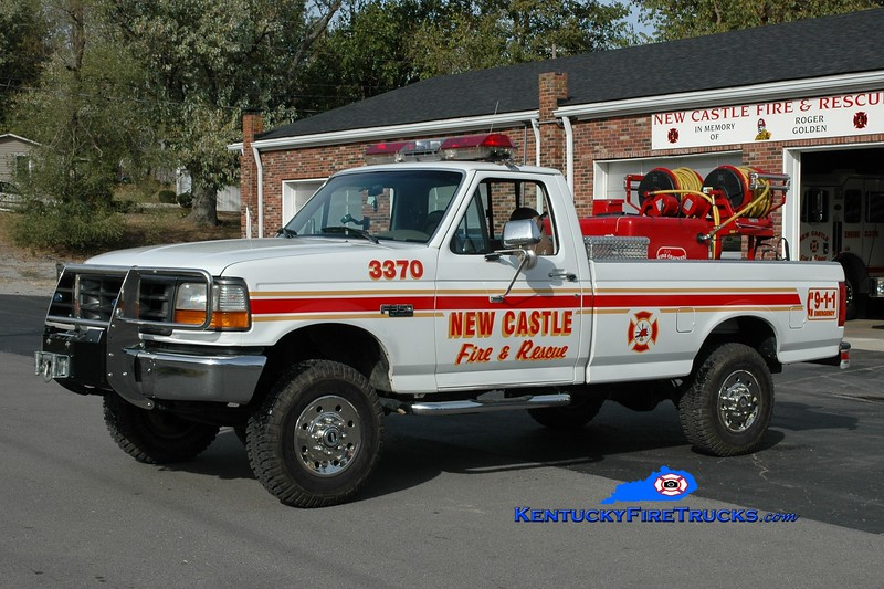 <center> New Castle  Brush 3370  <br> 1995 Ford F-350 4x4/Mertz 250/200  <br> Greg Stapleton photo </center>