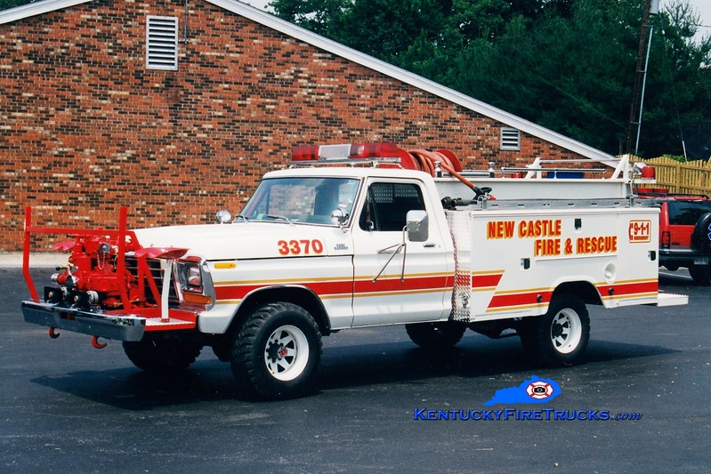 <center> RETIRED <br> New Castle  Brush 3370  <br> 1978 Ford F-350 4x4/Stahl 500/300 <br> Greg Stapleton photo </center>