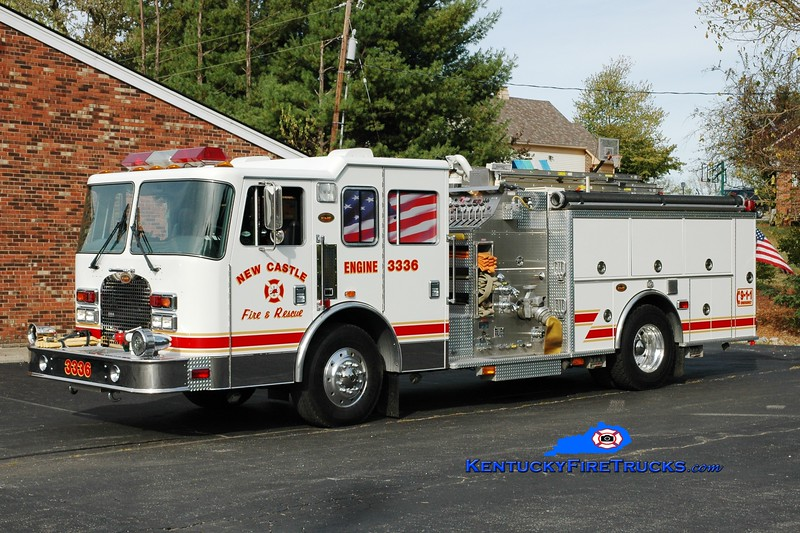 <center> New Castle  Engine 3336  <br> 1998 KME Excel 1250/750 <br> Greg Stapleton photo </center>