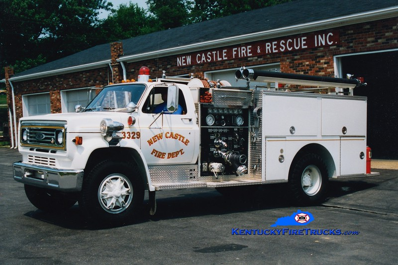 <center> RETIRED <br> New Castle  Engine 3329  <br> 1980 Chevy C65/Pierce 1000/500  <br> Greg Stapleton photo </center>
