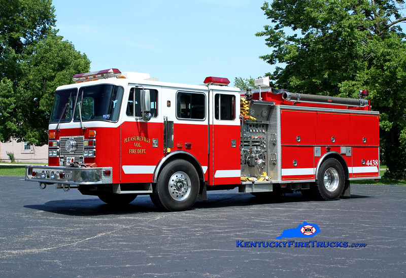 Pleasureville  Engine 4438<br /> x-Rivesville, WV <br /> 1997 KME Renegade 1250/1000<br /> Kent Parrish photo