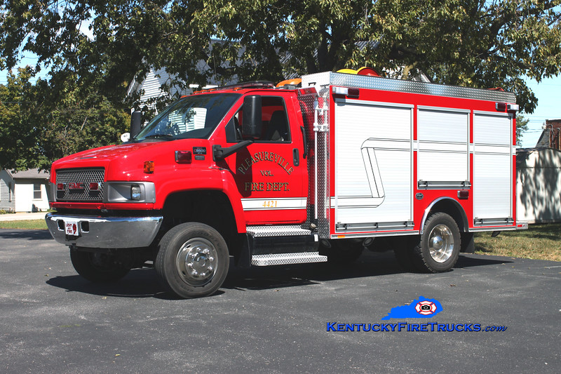 <center> Pleasureville  Rescue 4421 <br> 2009 Chevy C5500 4x4/Wynn 200/300/CAFS-30 <br> Kent Parrish photo </center>