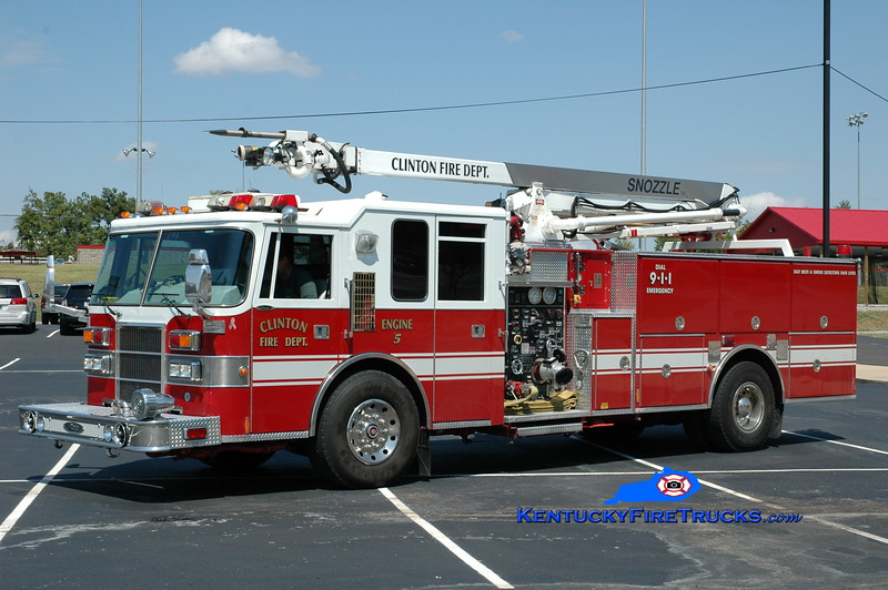 <center> Clinton  Engine 5  <br> x-Plano, TX <br> 1994 Pierce Dash 1250/500/50' Snozzle <br> Greg Stapleton photo </center>