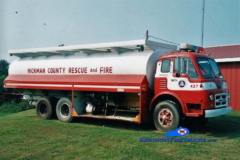RETIRED<br /> Hickman County Tanker 437<br /> 1964 International VCO/Heil 250/3000<br /> Greg Stapleton photo