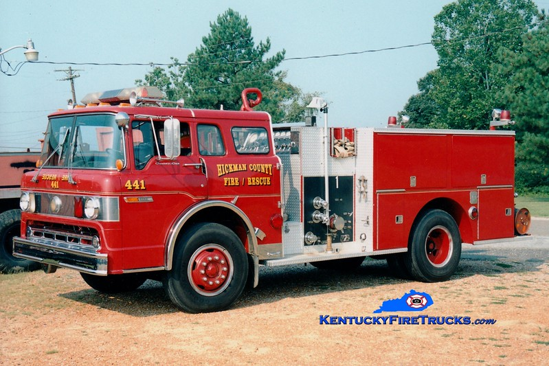 <center> Hickman County  Engine 441  <br> x-Spring, TX <br> 1979 Ford C/Pierce 1000/750 <br> Greg Stapleton photo </center>