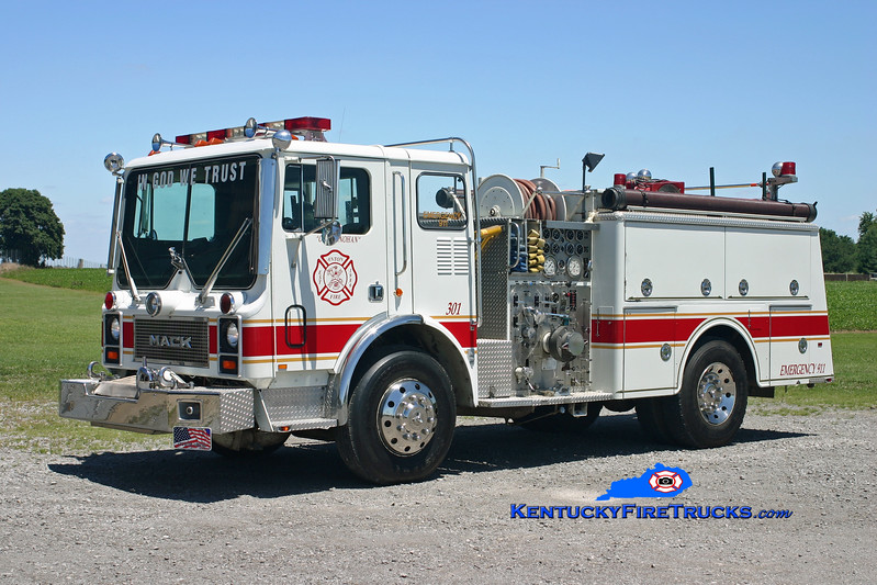 <center> RETIRED <br> Anton  Engine 301 <br> x-Havre de Grave, MD <br> 1984 Mack MC686F 1250/500 <br> Kent Parrish photo </center>