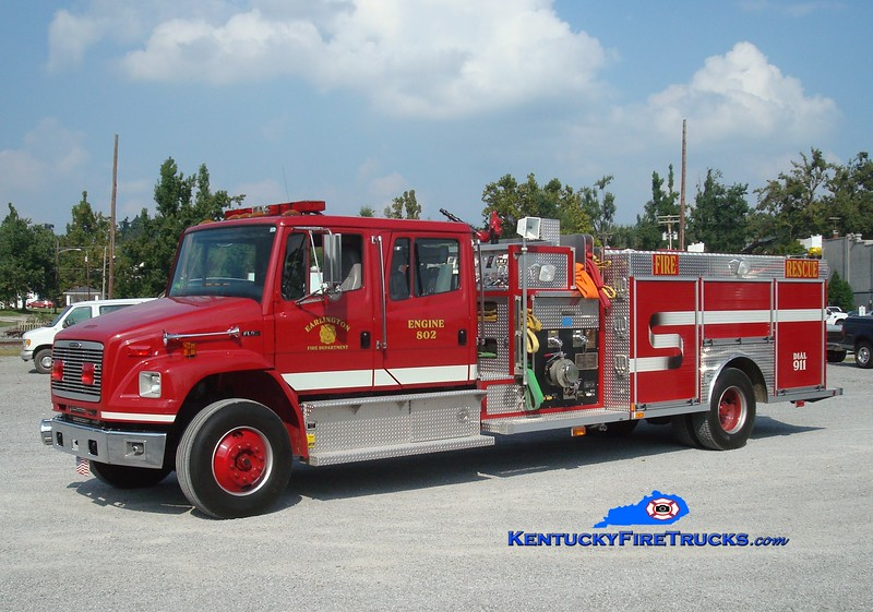 <center> Earlington  Engine 802 <br> 2000 Freightliner FL80/Central States 1500/1000 <br> Greg Stapleton photo </center>