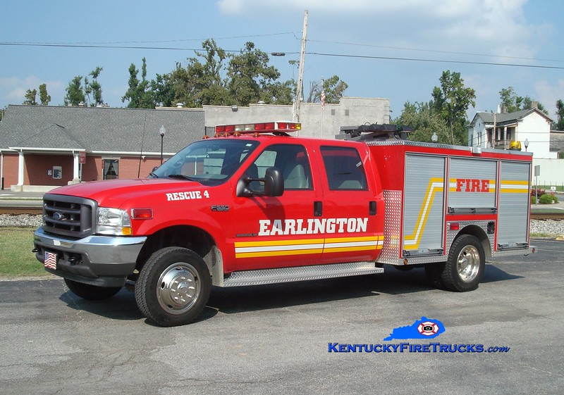 <center> RETIRED <br> Earlington  Rescue 804 <br> 2002 Ford F-550 4x4/Local  <br> Greg Stapleton photo </center>