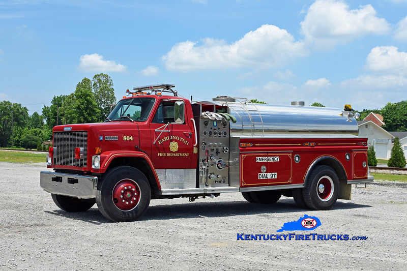 Earlington  Tanker 804<br /> x-Kirkwood, KY<br /> 1988 GMC Brigadier/Walker-Trailblazer 500/1800<br /> Kent Parrish photo