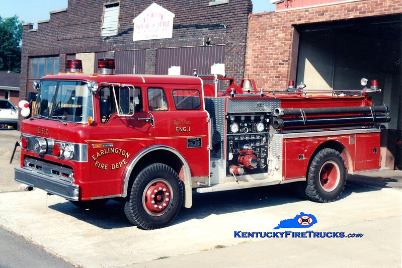<center> RETIRED <br> Earlington  Engine 801 <br> 1978 Ford C/Pierce 750/750 <br> Greg Stapleton photo </center>