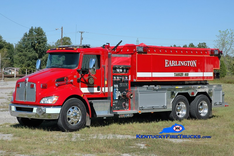 Earlington  Tanker 803<br /> 2016 Kenworth T-370/Fouts Bros 500/3000<br /> Greg Stapleton photo