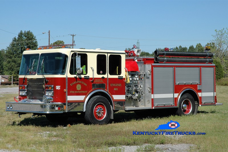 Earlington  Engine 801<br /> x-Hilton, NY <br /> 1991 Spartan/RD Murray 1250/500<br /> Greg Stapleton photo