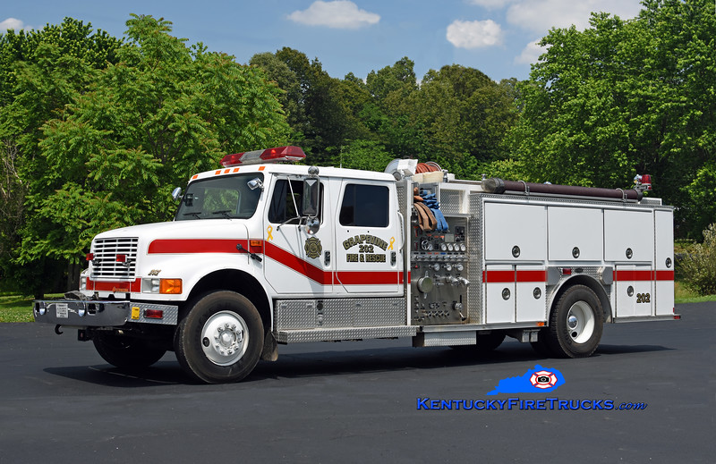 Grapevine  Engine 202<br /> x-Calloway County, KY<br /> 1993 International 4900/E-One 1250/1000<br /> Kent Parrish photo